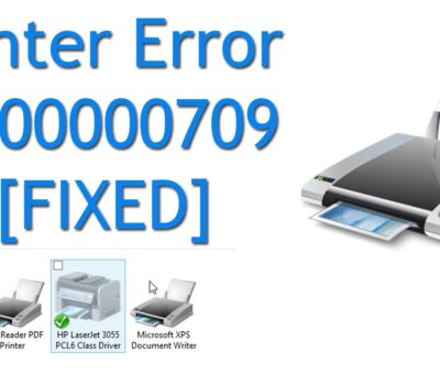 Fix HP Printer Error 709